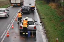 Dopravní nehoda u Podhorního Újezdu.