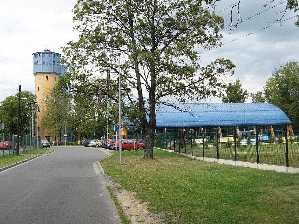 Bohumín, penzion Ve věži a aquacentrum.