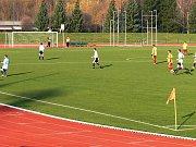Fotbalové utkání Jičína s Dobruškou.