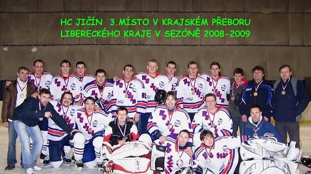Hráčí, funkcionáři i příznivci HC Jičín mají radost ze třetího místa v přeboru Libereckého kraje. O tento výsledek se zasloužilo celé jičínské mužstvo.