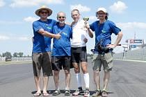 Šťastný tým, zleva Aleš Sekot, Pavel Polman, Dan Polman a Petr Novák.