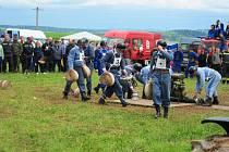 Hasičská soutěž v Bukovině u Pecky.