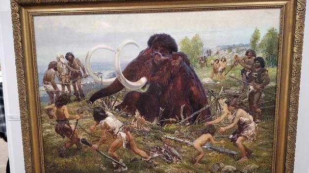 Přední znalec díla Zdeňka Buriana Rostilsav Walica představil návštěvníkům hořického muzea unikátní mistrův obraz. Světlo světa spatřila malba s lovci mamutů po sedmdesáti letech.