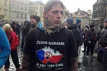 Demonstrace proti islámu v Praze 31. ledna 2015.
