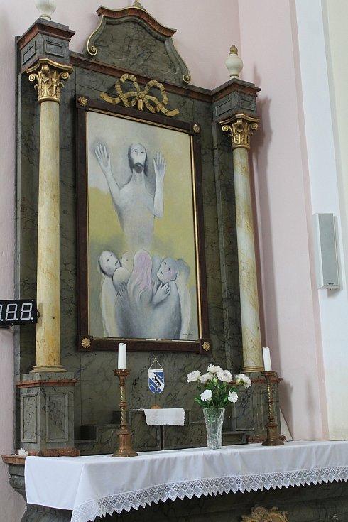 Nanebevzetí Ježíše Krista namaloval Jan Dinga přesně podle Komárkova návrhu.
