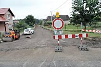 Silnice z Butovsi na Vrbici je zcela uzavřena.