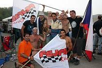 Za Václavem Fejfarem přijela do Itálie početná skupina fanoušků.