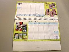 Dárky pro čtenáře - předplatitele: kalendář.