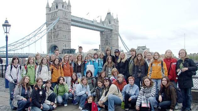 Hořičtí studenti  Londýně.