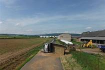 Nehoda nákladního automobilu na Bělohradsku.