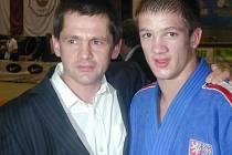 Judista Tomáš Vaníček s otcem.