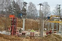 Výstavba výzkumného ústavu v Holovousích.