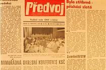 Stránky Předvoje z listopadu 1989.