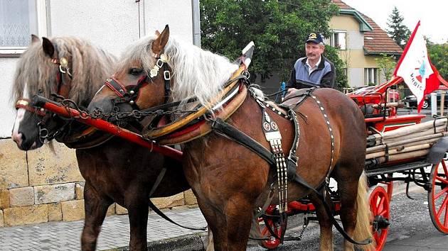 Ze slavnosti koňských stříkaček ve Vrbici.
