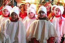 Koncert hořické ZUŠky v kostele Narození Panny Marie.