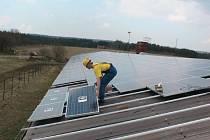 Fotovoltaická elektrárna.