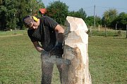 Třetí ročník Libuneckého dřevosochání o víkendu přilákal řadu návštěvníků.