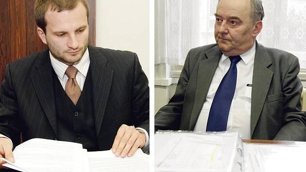 Advokát dívek Martin Duben (vlevo) i právní zástupce firmy Audisbus Karel Baborák rozsudek přijali.