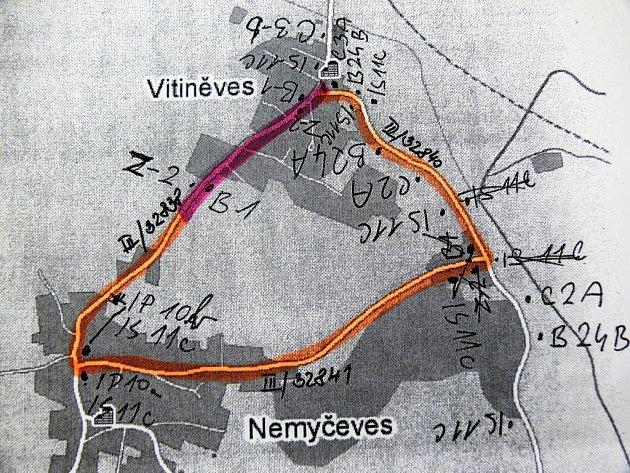 Mapka objízdné trasy.
