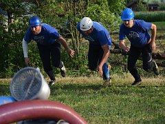 Okrsková soutěž hasičů v Soběrazi.