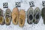 Zajištěné boty, pocházející z krádeží.