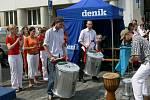 O zajímavý kulturní vstup se postaral Milan Včelák se svým Samba Paka Bandem.