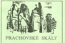 Prachovské skály, vyobrazení na vstupence na koupaliště U Pelíška, 1996.