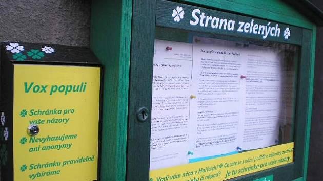 Informace zelených.