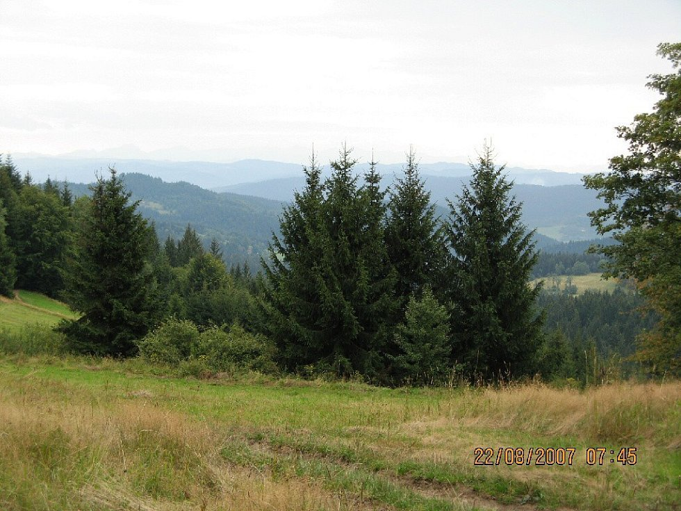 Výhledy na trase z Doroťanky na Bumbálku.