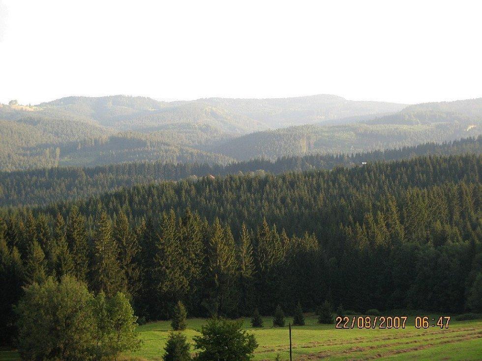 Výhledy od chaty Doroťanka.