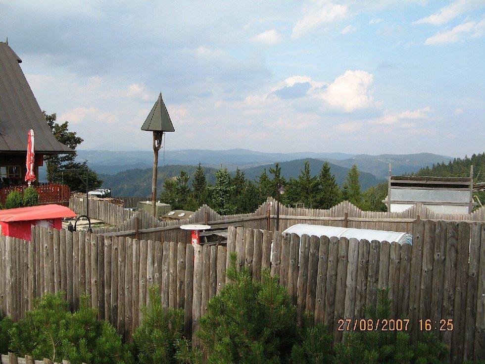 Výhled od chaty Kohútka.