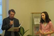 Nathalie Krysztalowska vystavuje v jičínské knihovně.