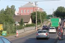 Rekonstrukce vozovky v Úlibicích.