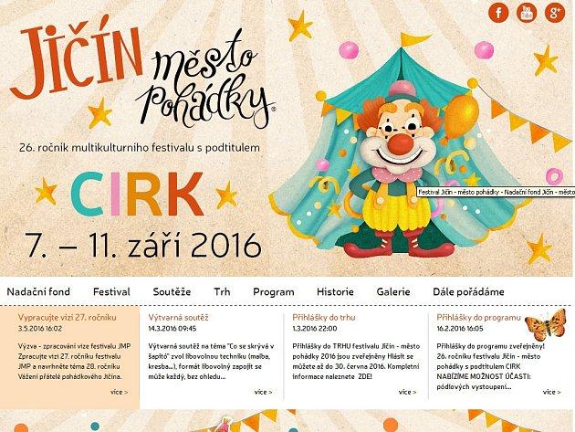 Webové stránky pohádkového festivalu.