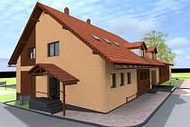 Vizualizace nového kulturního domu v Boháňce.