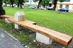 Rumcajsova lavička v Jičíně
