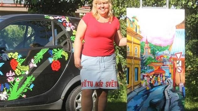 Kateřina Krausová během Dne otevřených ateliérů.