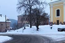 Zasněžené Novopacko.