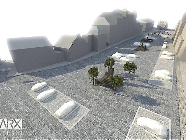 Projekt nového vzhledu novopackého náměstí.