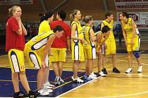 Novopacké basketbalistky.