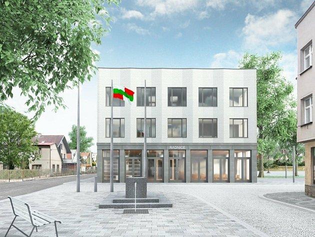 Vizualizace návrhu nové budovy.