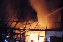 Požár stodoly v Ruprechticích.