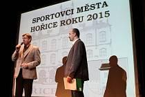 Oceňování nejlepších sportovců Hořic za rok 2015.