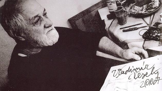 Akademický malíř Vladimír Veselý.