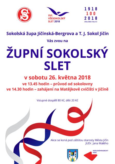 Pozvánka na Župní sokolský slet vJičíně.