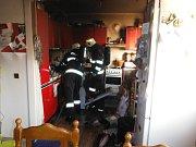 Požár kuchyně v Libonici