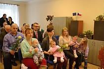 Vítání občánků v Nemyčevsi.