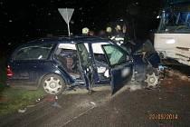 Tragická nehoda mercedesu u Úlibic.