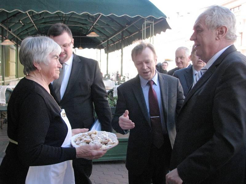 Prezident Miloš Zeman návštěvou v Jičíně.