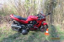 Havárie motocyklu na Jičínsku.